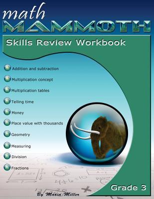 Math Mammoth Grade 3 Skills Review Workbook Cover Image