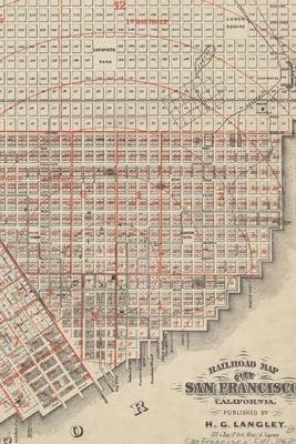 San Francisco, California (1868 Railroad Map) 4x6