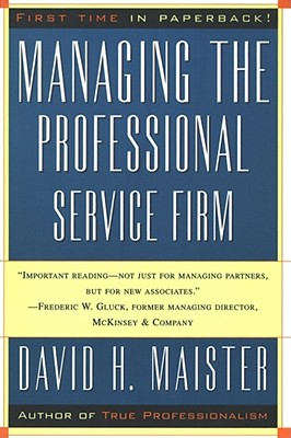 Managing the Professional Service Firm Cover