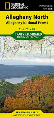Allegheny North [Allegheny National Forest] (National Geographic Trails Illustrated Map #738) Cover Image