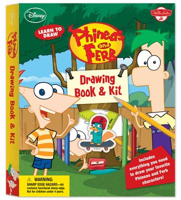 Learn to Draw Phineas and Ferb Drawing Book & Kit [With Ruler and Pens/Pencils and Eraser and Sharpener and Marker and Paper] Cover