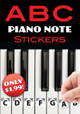 A B C Piano Note Stickers Cover Image