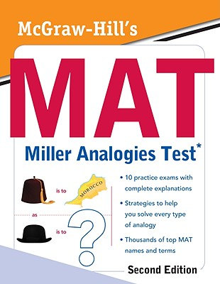 McGraw-Hill's MAT Miller Analogies Test Cover Image