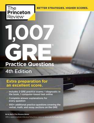 1,007 GRE Practice Questions Cover