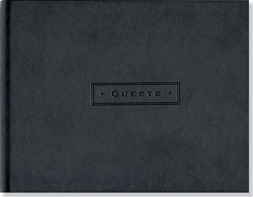 Classic Black Guest Book Cover Image