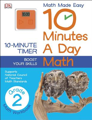 10 Minutes a Day: Math, Second Grade: Supports National Council of Teachers Math Standards Cover Image