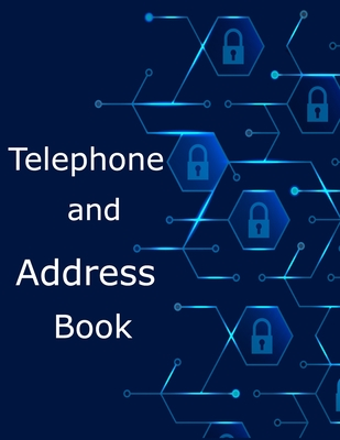 Telephone and Address Book: Large Print Phone Book & Adresses Book with Tabs Cover Image