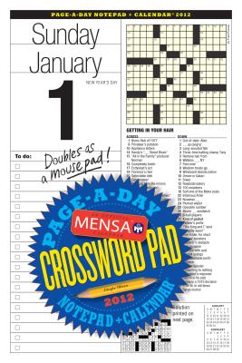 Mensa Crossword Page-a-Day and Notepad 2012 Calendar Cover Image