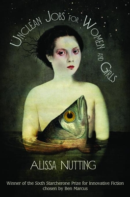 Book cover reads: Unclean Jobs for Women and Girls, with an illustration of a white woman standing in water holding a fish