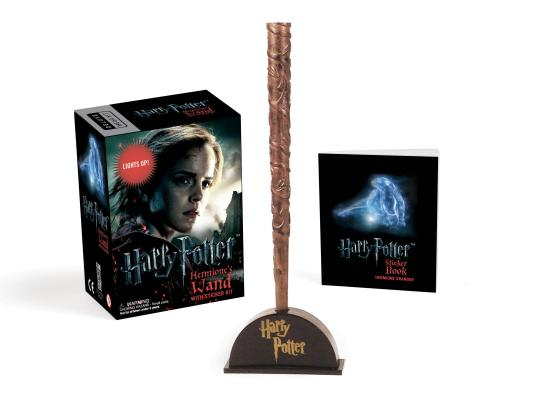 Harry Potter Hermione's Wand with Sticker Kit: Lights Up! (RP Minis) Cover Image