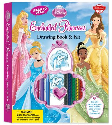 Learn to Draw Disney's Enchanted Princesses Drawing Book & Kit Cover