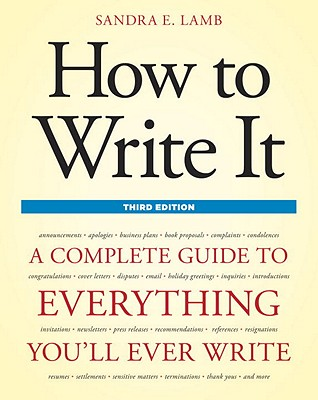 How to Write It Cover