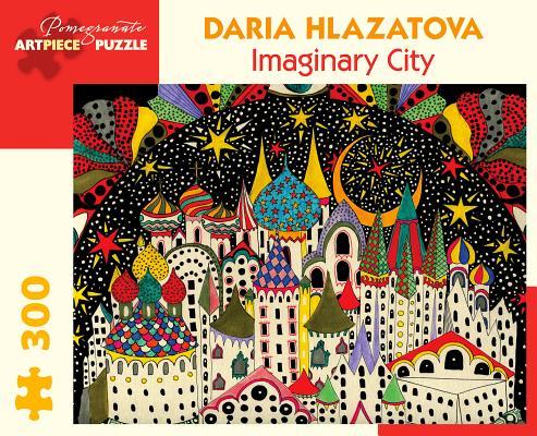 Daria Hlazatova Imaginary City 300 Piece Jigsaw Puzzle Cover Image