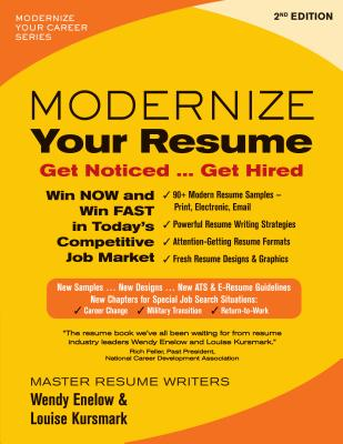 Modernize Your Resume: Get Noticed...Get Hired Cover Image