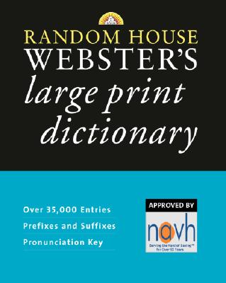 Random House Webster's Large Print Dictionary Cover