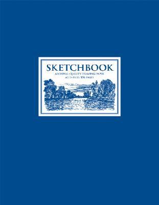 Sketchbook Blue: Large Spiral Cover Image
