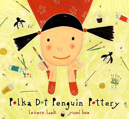 Polka Dot Penguin Pottery Cover