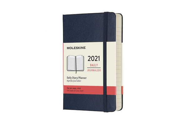 Moleskine 2021 Daily Planner, 12M, Pocket, Sapphire Blue,  Hard Cover (3.5 x 5.5) Cover Image