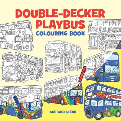 Double-Decker Playbus Colouring Book Cover Image