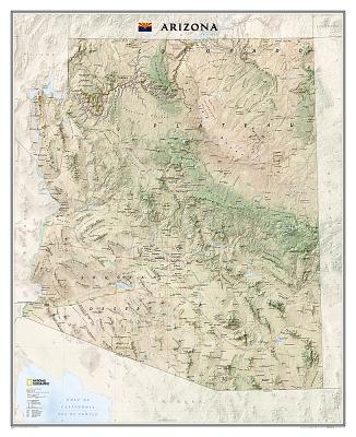 National Geographic: Arizona Wall Map - Laminated (33 X 40.5 Inches) Cover Image