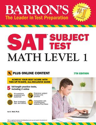 SAT Subject Test: Math Level 1 with Online Tests Cover Image