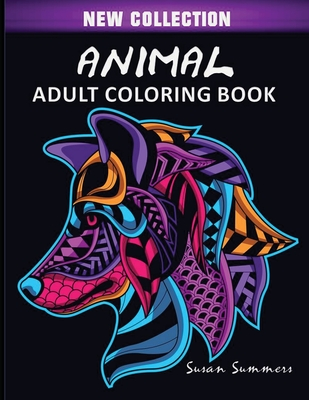 Animal Adult Coloring Book Cover Image