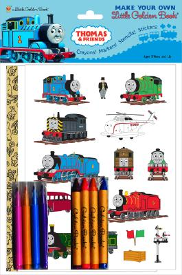 Thomas & Friends Make Your Own Little Golden Book [With Stickers and Crayons and Markers and Stencils] Cover