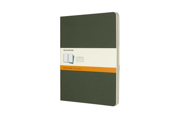 Moleskine Cahier Journal, Extra Large, Ruled, Myrtle Green (7.5 x 10) Cover Image