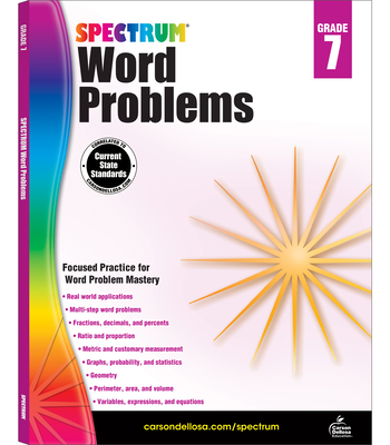 Spectrum Word Problems, Grade 7 Cover Image