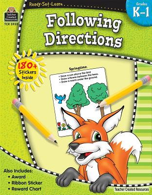 Ready-Set-Learn: Following Directions Grd K-1 [With 150+ Stickers] Cover Image