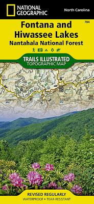Fontana and Hiwassee Lakes [Nantahala National Forest] (National Geographic Trails Illustrated Map #784) Cover Image