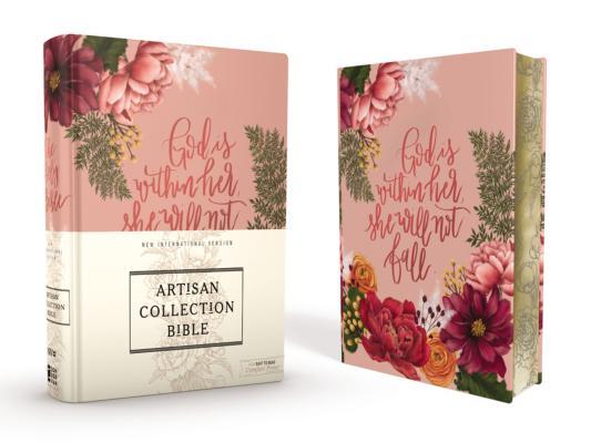 Niv, Artisan Collection Bible, Cloth Over Board, Pink Floral, Designed Edges Under Gilding, Red Letter Edition, Comfort Print Cover Image