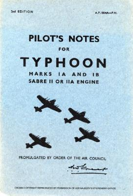 Hawker Typhoon Ia & Ib - Pilot's Notes Cover Image