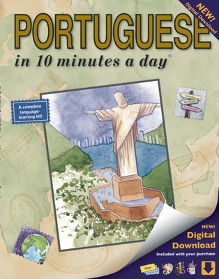 Portuguese in 10 Minutes a Day: Language Course for Beginning and Advanced Study. Includes Workbook, Flash Cards, Sticky Labels, Menu Guide, Software Cover Image