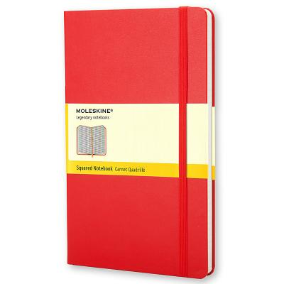 Moleskine Classic Notebook, Large, Squared, Red, Hard Cover (5 x 8.25) (Classic Notebooks) Cover Image