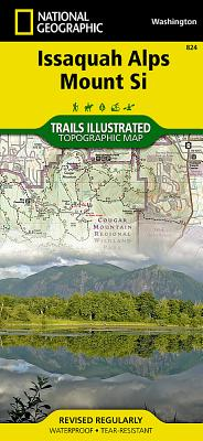 Issaquah Alps, Mount Si (National Geographic Trails Illustrated Map #824) Cover Image