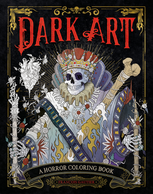 Dark Art: A Horror Coloring Book Cover Image