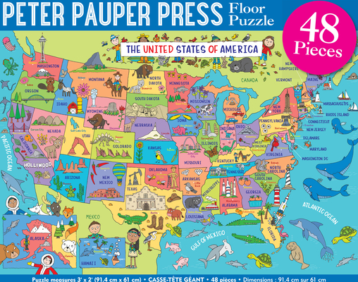 USA Map Kids' Floor Puzzle Cover Image