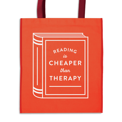 Reading is Cheaper Than Therapy Reusable Shopping Bag Cover Image
