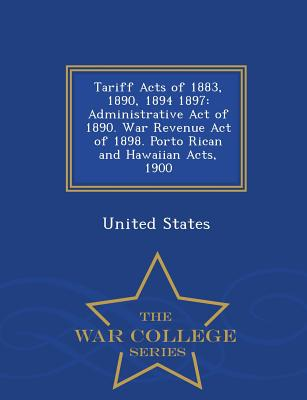 Cover for Tariff Acts of 1883, 1890, 1894 1897