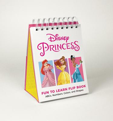 Disney Princess Fun to Learn Flip Book: ABCs, Numbers, Colors, and Shapes Cover Image