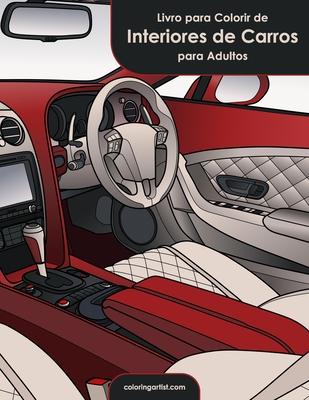 Livro para Colorir de Interiores de Carros para Adultos Cover Image