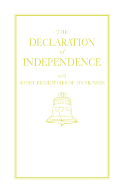 Declaration of Independence Cover Image