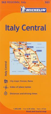 Michelin Italy: Central Map 563 (Maps/Regional (Michelin)) Cover Image
