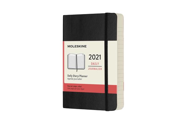 Moleskine 2021 Daily Planner, 12M, Pocket, Black, Soft Cover (3.5 x 5.5) Cover Image