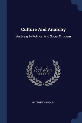 Cover for Culture and Anarchy