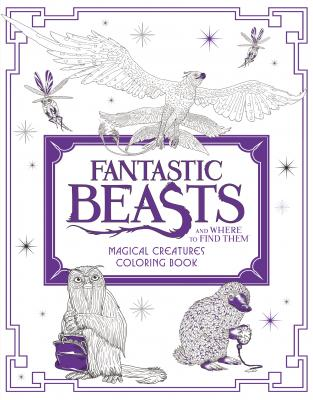Fantastic Beasts and Where to Find Them: Magical Creatures Coloring Book Cover Image