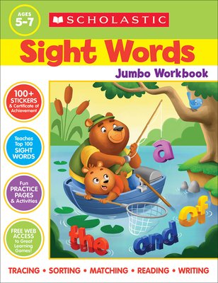 Scholastic Sight Words Jumbo Workbook Cover Image