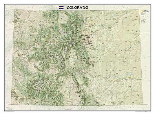 National Geographic: Colorado Wall Map (40.5 X 30.25 Inches) (National Geographic Reference Map) Cover Image