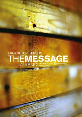 The Message//REMIX 2.0 Hardback Wood: The Bible in Contemporary Language Cover Image